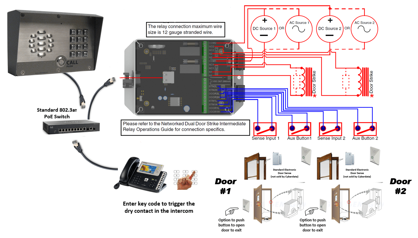 hight resolution of connecting to inductive type loads networked dual door strike relay product cd 011375 remote switch connection