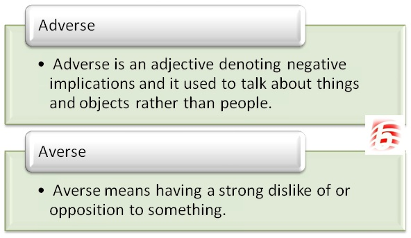 Difference Between Adverse And Averse Averse Vs Adverse