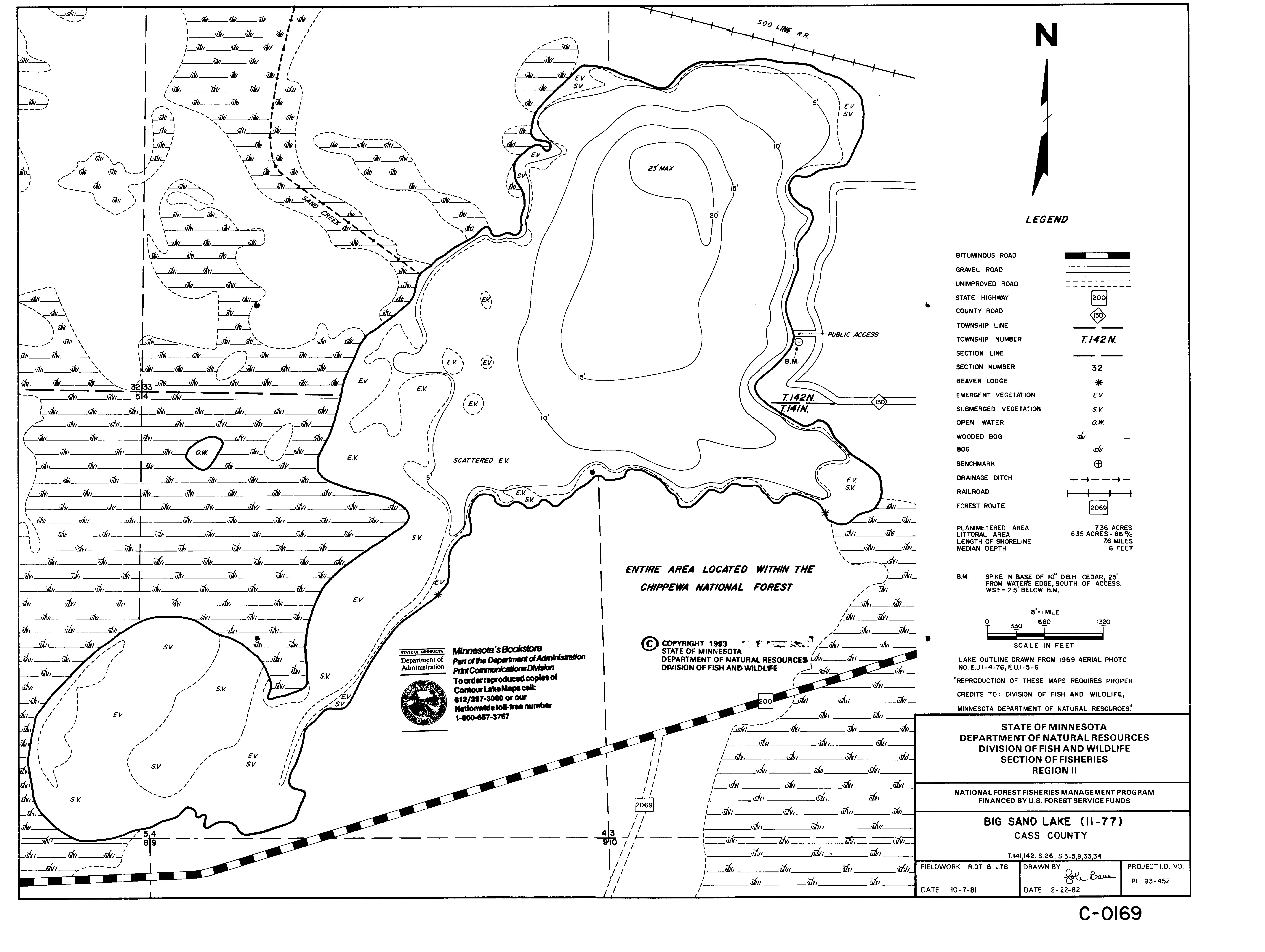 Lake depth maps: Minnesota DNR