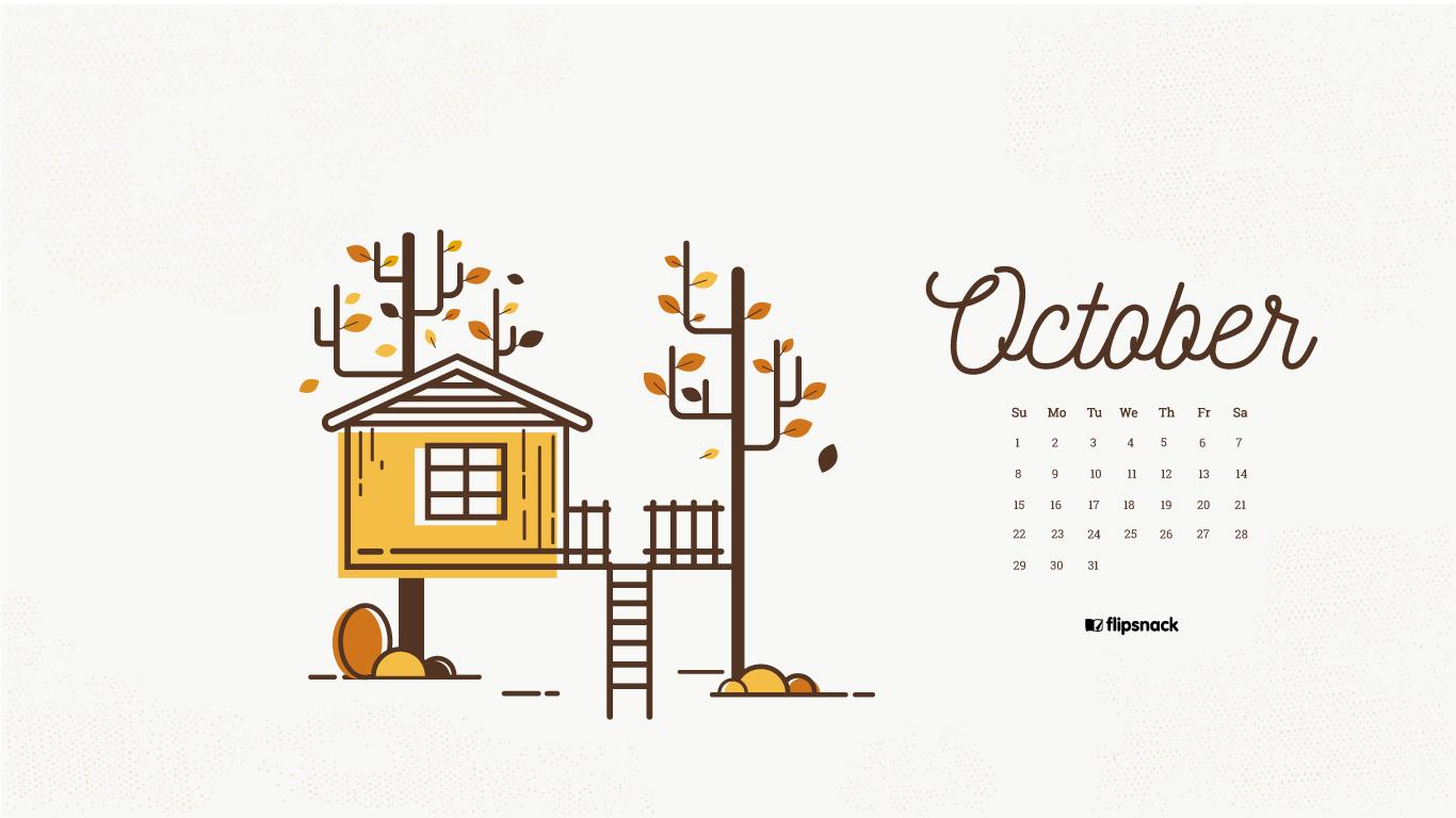 Fall Pumpkin Wallpaper Desktop October 2017 Calendar Wallpaper For Desktop Background