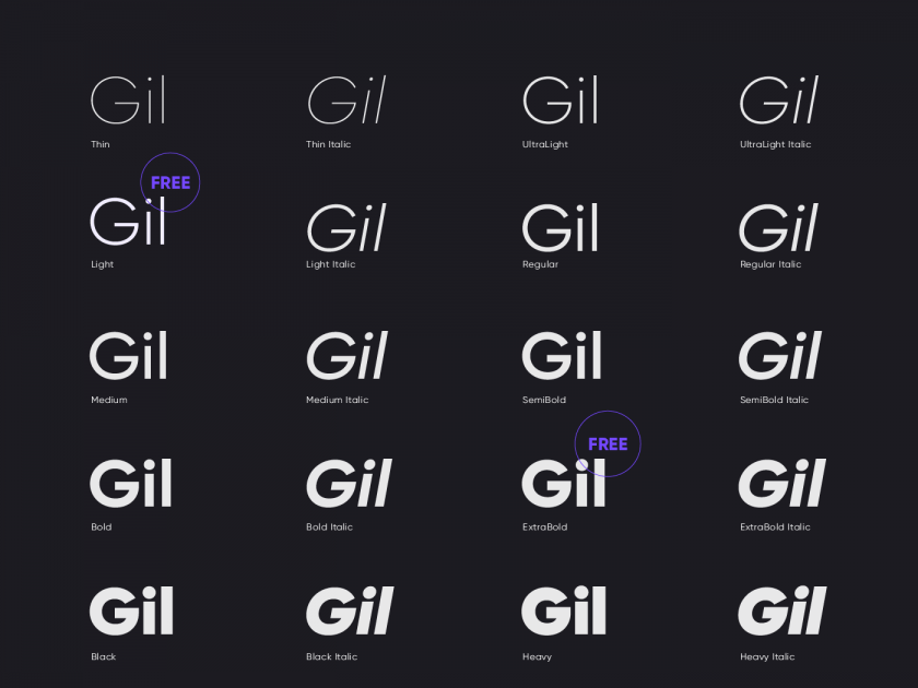 Download Gilroy font family - Fluxes Freebies