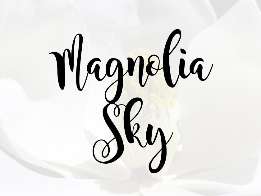 Download Magnolia Sky Free Script Font - Fluxes Freebies