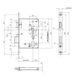 b 1206 fire protection door lock for 1 leaf doors to din 18250 grade 5 gu group [ 1200 x 750 Pixel ]