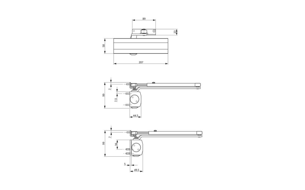 medium resolution of ots 210 door closer set