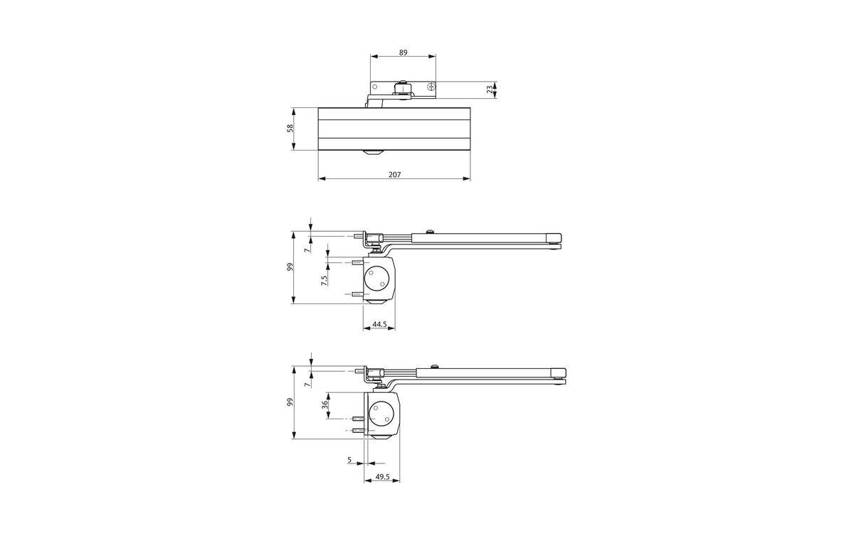 hight resolution of ots 210 door closer set
