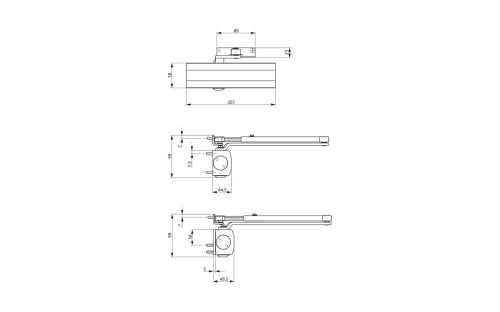 small resolution of ots 210 door closer set