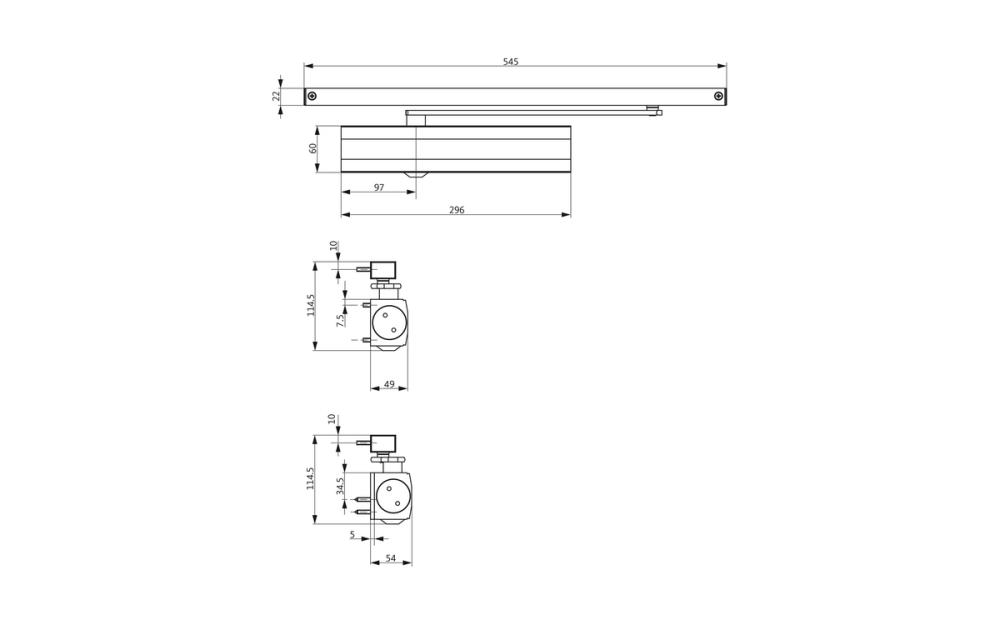 medium resolution of ots 634 door closer set