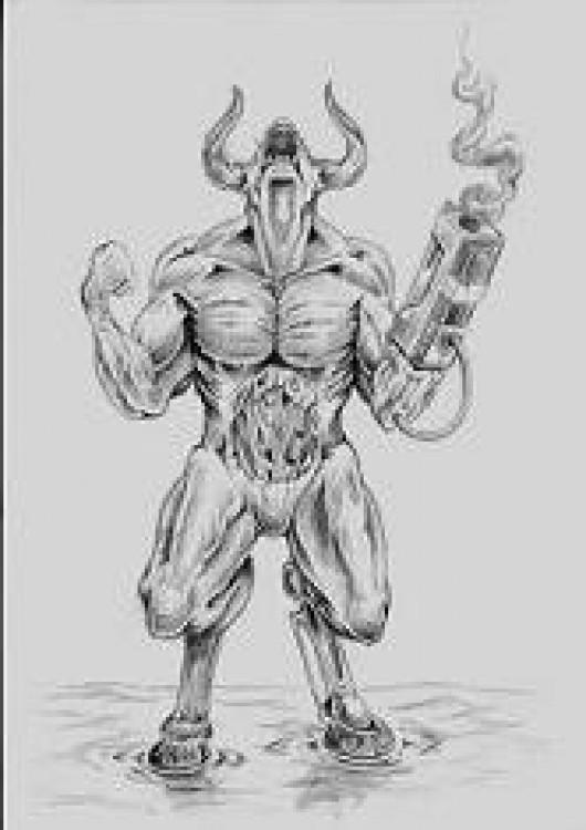 Doom Demon (GameBanana > Sprays > Game Characters
