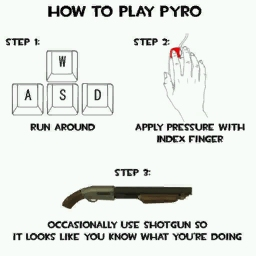 How To Play the Pyro V.1 [Team Fortress 2] [Sprays]