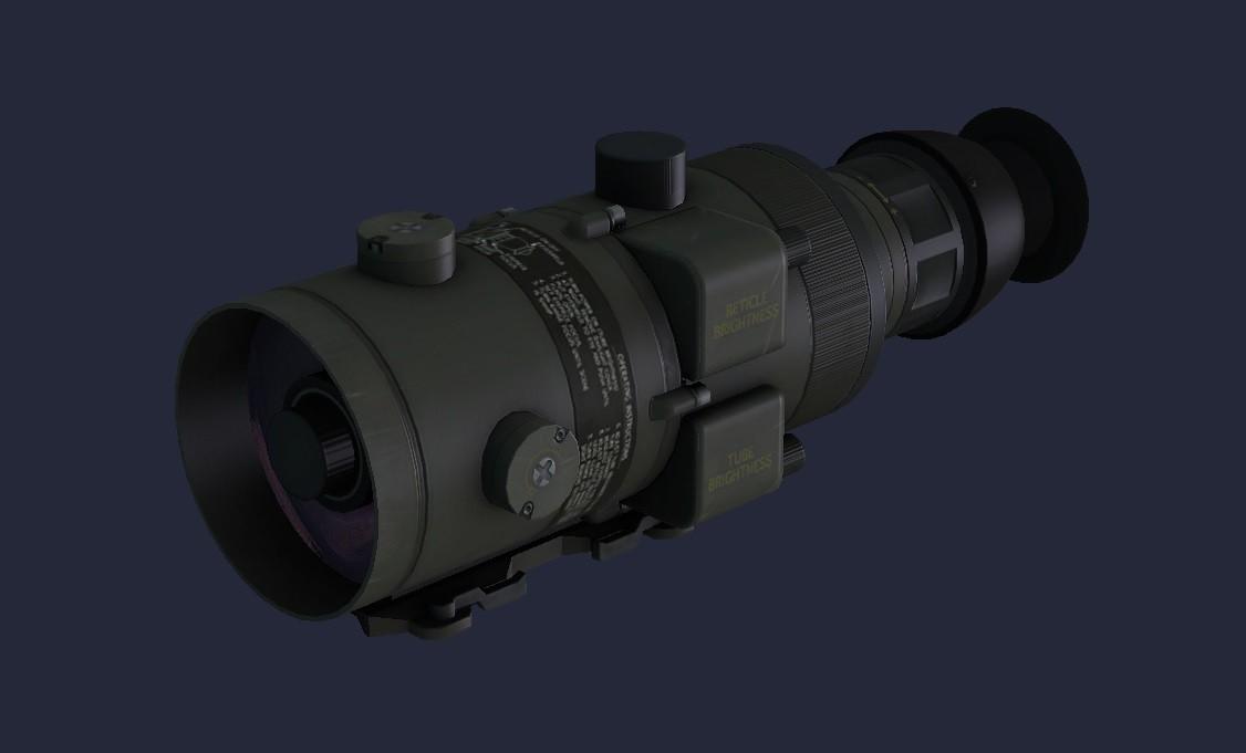 ANPVS 4 Night Vision Scope 3D Models
