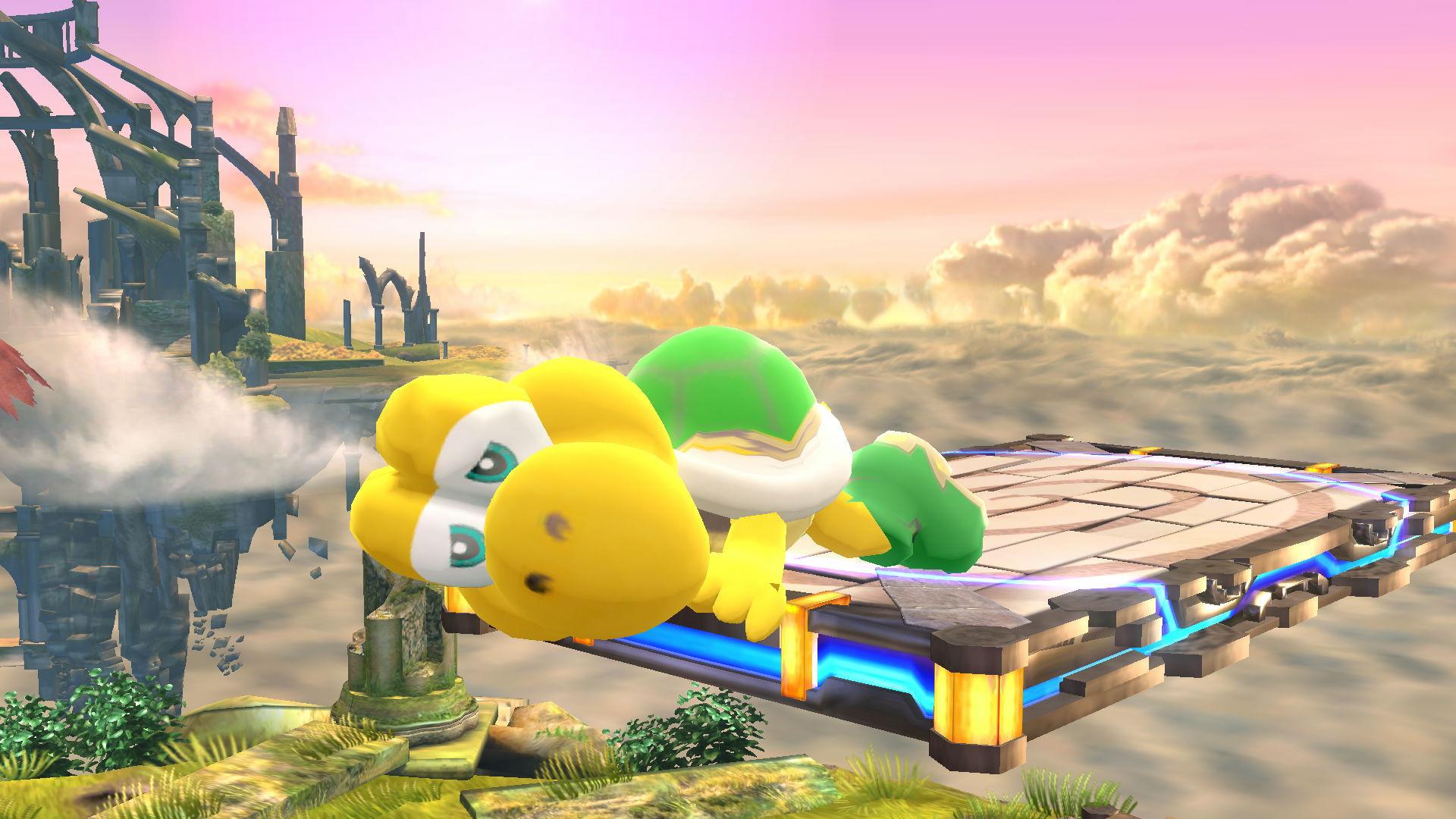 Koopa Troopa Over Yoshi Super Smash Bros Wii U Works