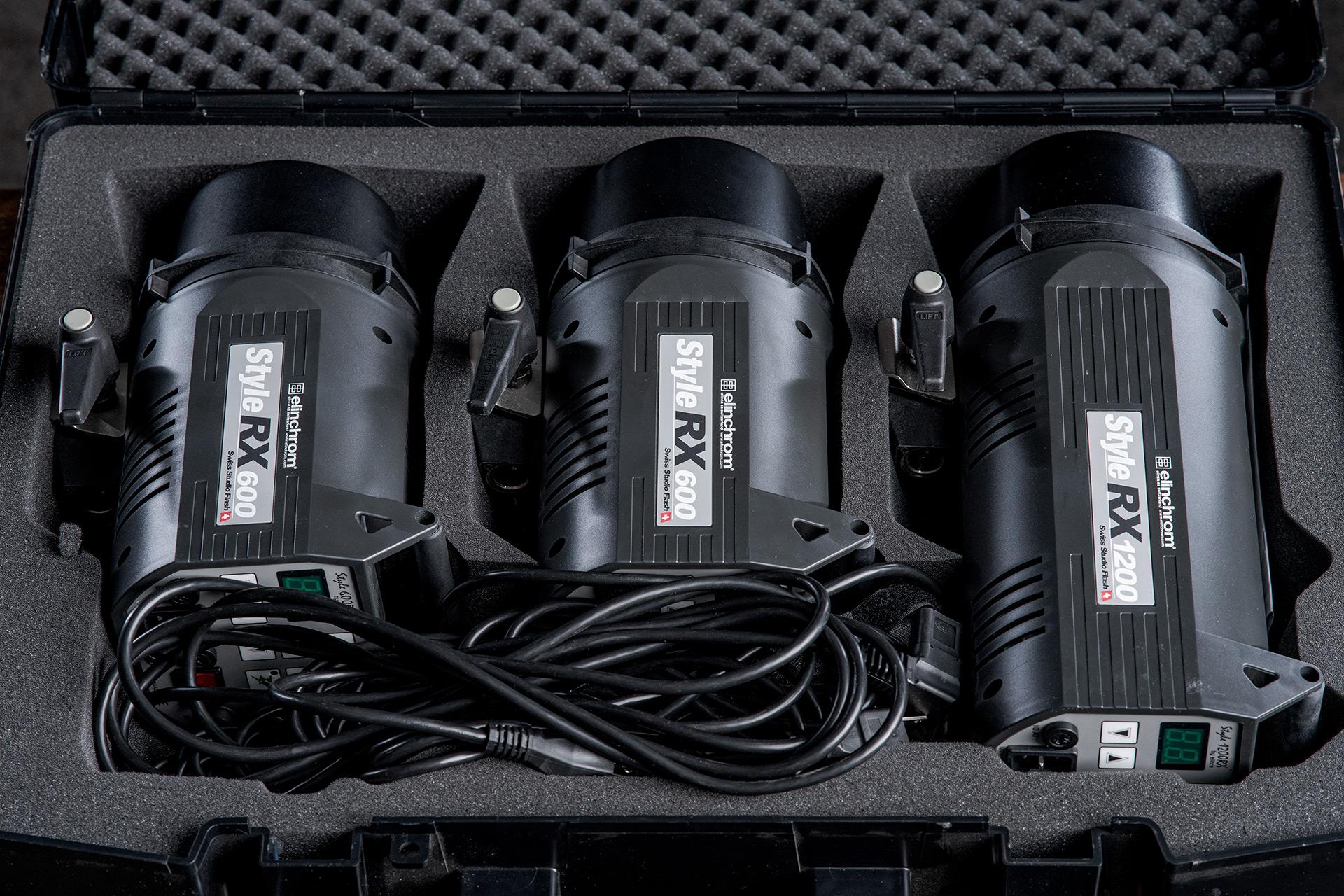 elinchrom 3 light flash strobe kit 2 style rx 600 1 style rx 1200