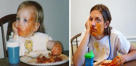 33 Erwachsene stellen Fotos aus ihrer Kindheit nach Das
