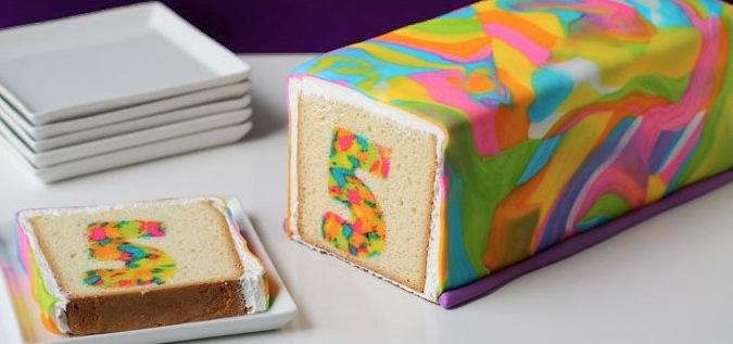 Ein einfacher Regenbogenkuchen fr den nchsten Geburtstag