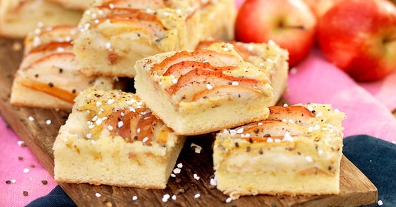 Äppelrutor med kardemumma i långpanna recept