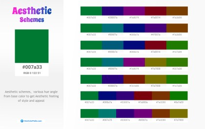 007a33 Aesthetic Color Schemes