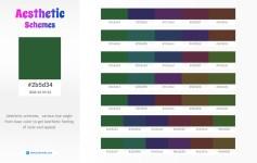2b5d34 Aesthetic Color Schemes