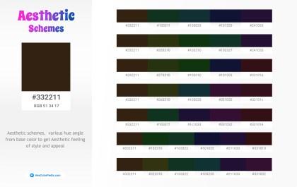 332211 Aesthetic Color Schemes