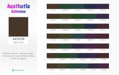 473729 Aesthetic Color Schemes