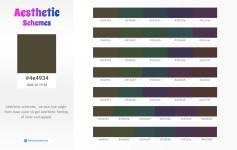 4e4934 Aesthetic Color Schemes