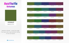 556b2f Aesthetic Color Schemes