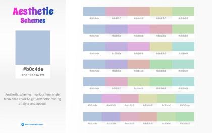 b0c4de Aesthetic Color Schemes