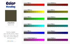 4e4934 Color Blending / Mixing