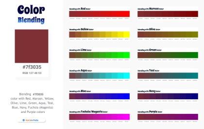 7f3035 Color Blending / Mixing