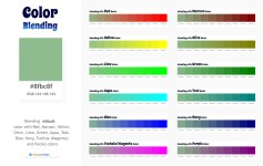 8fbc8f Color Blending / Mixing