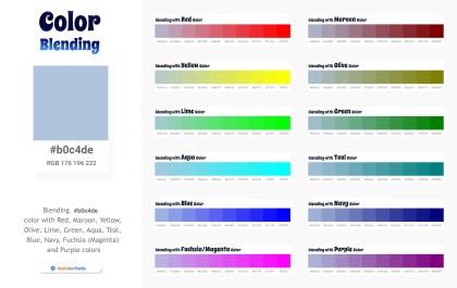 b0c4de Color Blending / Mixing