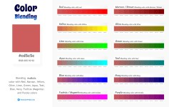 cd5c5c Color Blending / Mixing