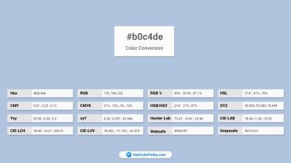 b0c4de Color Conversion