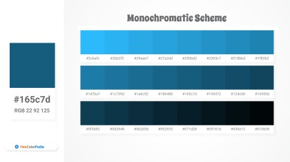 165c7d Monochromatic Scheme