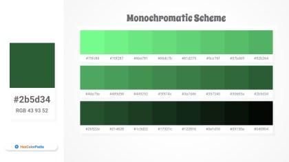 2b5d34 Monochromatic Scheme