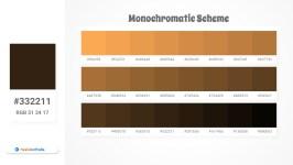 332211 Monochromatic Scheme