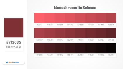 7f3035 Monochromatic Scheme