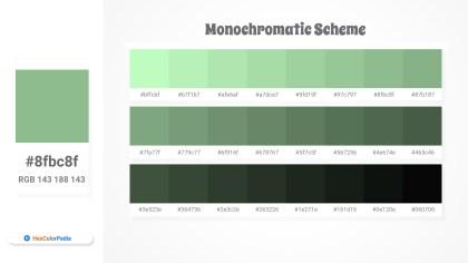 8fbc8f Monochromatic Scheme