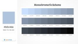 b0c4de Monochromatic Scheme