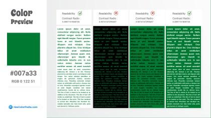 007a33 Color Text Preview