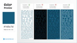 165c7d Color Text Preview