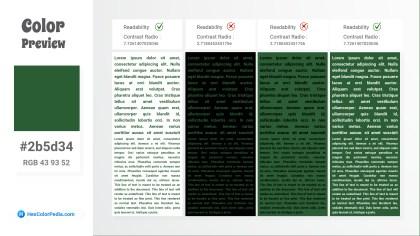 2b5d34 Color Text Preview