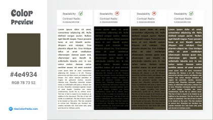 4e4934 Color Text Preview