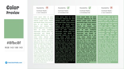 8fbc8f Color Text Preview