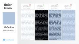 b0c4de Color Text Preview