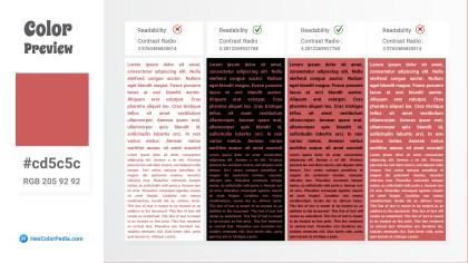 cd5c5c Color Text Preview