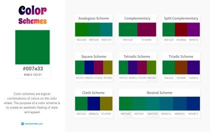 007a33 Color Schemes