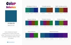 165c7d Color Schemes