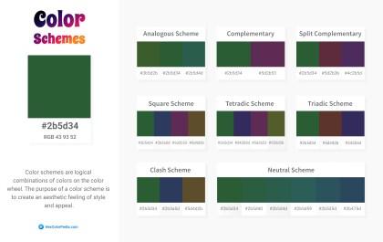 2b5d34 Color Schemes