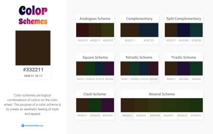 332211 Color Schemes