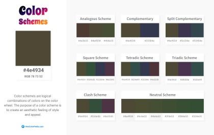 4e4934 Color Schemes